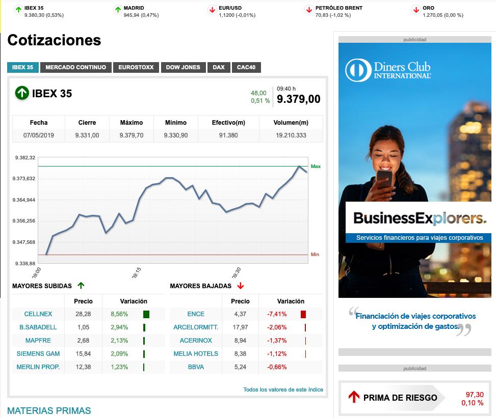 Web de finanzas